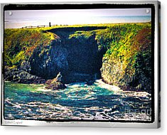 At The Seaside Acrylic Print by Happy Walls