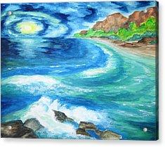 At Waters Edge -wcs Acrylic Print by Cheryl Pettigrew