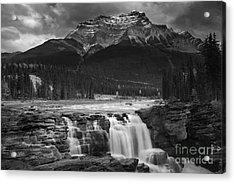 Athabasca Falls Jasper National Park  Acrylic Print by Keith Kapple