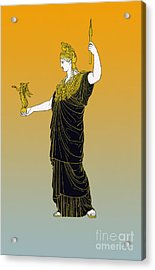 Athena, Greek Goddess Acrylic Print by Photo Researchers