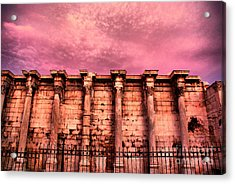 Athens - The Library Of Hadrian Acrylic Print by Hristo Hristov