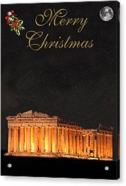 Athens Merry Christmas Acrylic Print by Eric Kempson