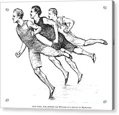 Athletics: Track, 1890 Acrylic Print by Granger