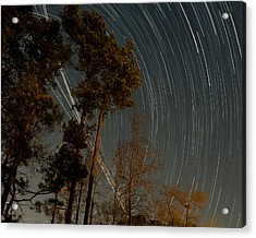 Acrylic Print featuring the photograph Atlanta Star Trails by Ray Devlin