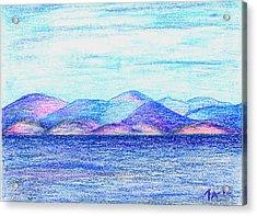 Atlantic Mountains 2 Acrylic Print by Taruna Rettinger