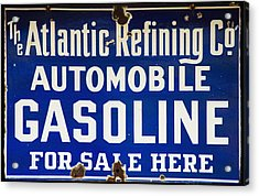 Atlantic Refining Co Sign Acrylic Print by Bill Cannon