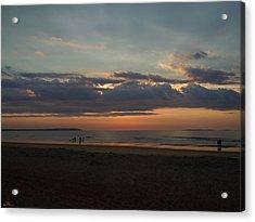 Atlantic Sunrise Acrylic Print by Nancy Griswold