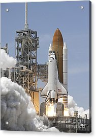 Atlantis Twin Solid Rocket Boosters Acrylic Print by Stocktrek Images