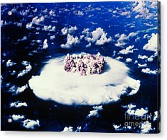 Atomic Bomb Test Cloud Acrylic Print by Science Source