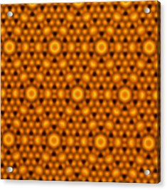 Atomic Surface Of A Silicon Crystal Acrylic Print by Northwestern University