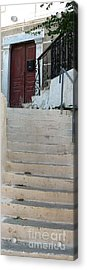Atop The Stairs Acrylic Print by Therese Alcorn