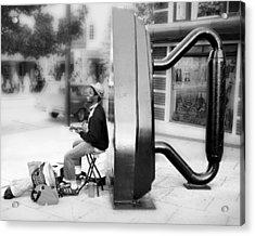 Atown Street Musician Acrylic Print