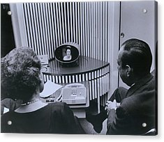 Att Inauguration Of The Picture Phone Acrylic Print by Everett