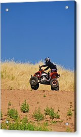 Acrylic Print featuring the photograph Atv Action by Sherri Meyer