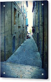 Auch-small Street Acrylic Print by Sandrine Pelissier