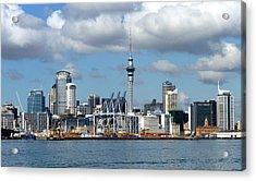 Auckland Skyline Acrylic Print by Carla Parris