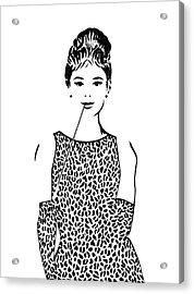 Audrey Hepburn Acrylic Print by Georgeta  Blanaru