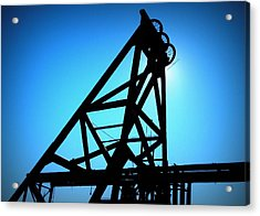 Acrylic Print featuring the photograph Audrey Mine Shaft Headframe In Jerome by Cindy Wright