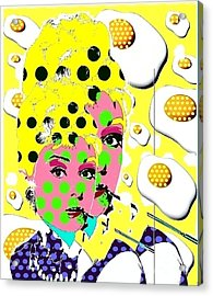 Audrey Acrylic Print by Ricky Sencion