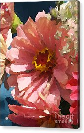 August Zinnias Detail Acrylic Print