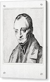 Auguste Comte, French Philosopher Acrylic Print by Humanities & Social Sciences Librarynew York Public Library