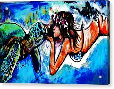 Aumakua Acrylic Print by Kimberly Dawn Clayton