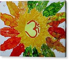 Aumkar Mandala Acrylic Print by Sonali Gangane