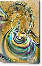 Aurora Of Yellowness Acrylic Print by Sipo Liimatainen