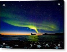 Aurora Over Haja Island Acrylic Print