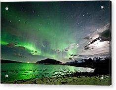 Auroras And Moon Acrylic Print