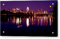 Austin Sky Line In December 2004 Acrylic Print by Lisa  Spencer