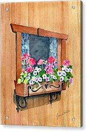 Austrian Window Acrylic Print by Jean White