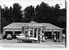 Auto At Gas Station Acrylic Print by George Marks