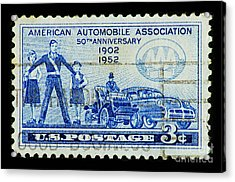 Acrylic Print featuring the photograph Automobile Association Of America by Andy Prendy