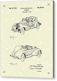 Automobile Mccelland Barclay 1932 Patent Art Acrylic Print by Prior Art Design