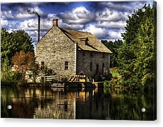 Autum At The Mill Acrylic Print