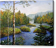 Acrylic Print featuring the painting Autum In Michigan by Lou Ann Bagnall