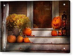 Autumn - Halloween - We're All Happy To See You Acrylic Print by Mike Savad