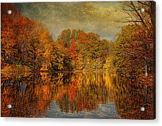 Autumn - Landscape - Tamaques Park - Autumn In Westfield Nj  Acrylic Print by Mike Savad