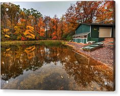 Acrylic Print featuring the photograph Autumn At Big Boulder Lake by Yelena Rozov