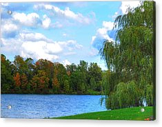 Acrylic Print featuring the photograph Autumn At Hoyt Lake by Michael Frank Jr