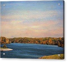 Autumn At Lake Graham Acrylic Print by Jai Johnson