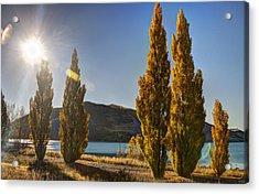 Autumn At Lake Tekapo Acrylic Print