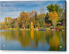 Autumn At Mill Pond Park Acrylic Print by Luba Citrin