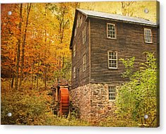 Autumn At Millbrook 4 - The Grist Mill Acrylic Print