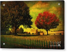 Acrylic Print featuring the photograph Autumn At The Farm by Gina Cormier