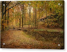 Autumn At Voorhees Acrylic Print