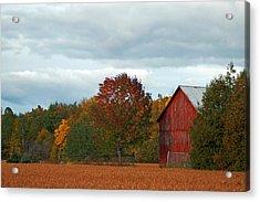 Autumn Barn Acrylic Print by Cheryl Cencich