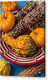 Autumn Basket  Acrylic Print by Garry Gay