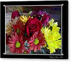 Acrylic Print featuring the digital art Autumn Boquet by Debbie Portwood